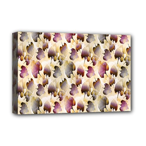 Random Leaves Pattern Background Deluxe Canvas 18  X 12