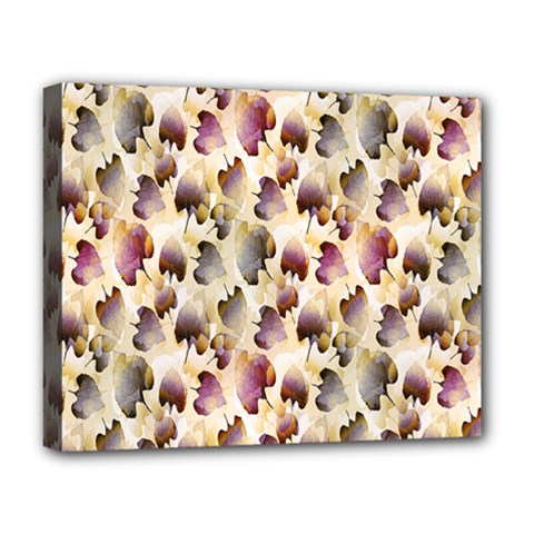 Random Leaves Pattern Background Deluxe Canvas 20  X 16