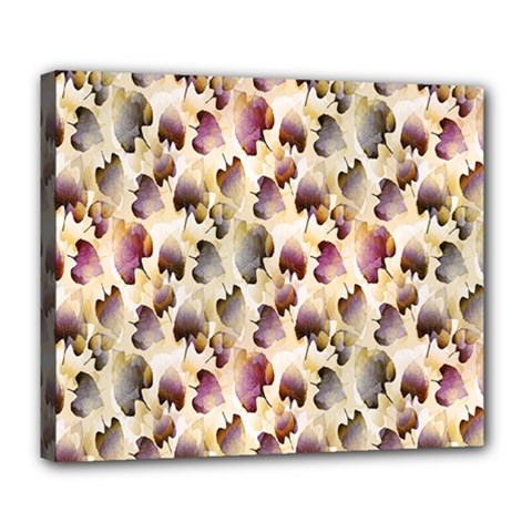 Random Leaves Pattern Background Deluxe Canvas 24  x 20