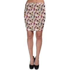 Random Leaves Pattern Background Bodycon Skirt