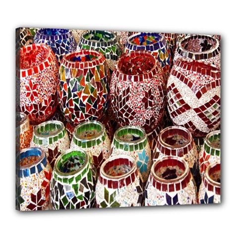 Colorful Oriental Candle Holders For Sale On Local Market Canvas 24  X 20