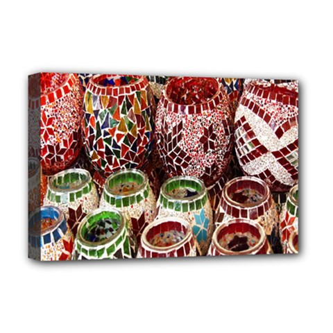 Colorful Oriental Candle Holders For Sale On Local Market Deluxe Canvas 18  X 12