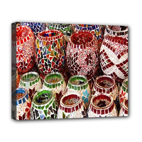Colorful Oriental Candle Holders For Sale On Local Market Deluxe Canvas 20  X 16