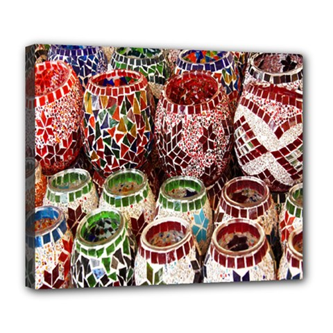 Colorful Oriental Candle Holders For Sale On Local Market Deluxe Canvas 24  X 20