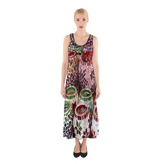 Colorful Oriental Candle Holders For Sale On Local Market Sleeveless Maxi Dress