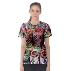 Colorful Oriental Candle Holders For Sale On Local Market Women s Sport Mesh Tee