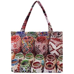 Colorful Oriental Candle Holders For Sale On Local Market Mini Tote Bag