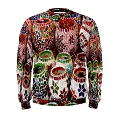 Colorful Oriental Candle Holders For Sale On Local Market Men s Sweatshirt