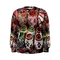 Colorful Oriental Candle Holders For Sale On Local Market Women s Sweatshirt
