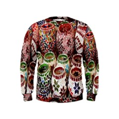 Colorful Oriental Candle Holders For Sale On Local Market Kids  Sweatshirt