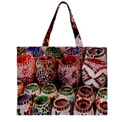 Colorful Oriental Candle Holders For Sale On Local Market Zipper Mini Tote Bag