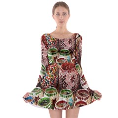 Colorful Oriental Candle Holders For Sale On Local Market Long Sleeve Skater Dress