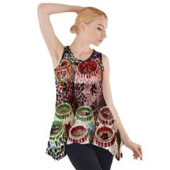 Colorful Oriental Candle Holders For Sale On Local Market Side Drop Tank Tunic
