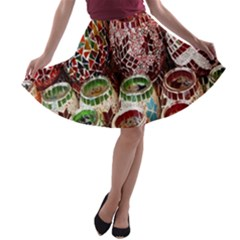 Colorful Oriental Candle Holders For Sale On Local Market A Line Skater Skirt