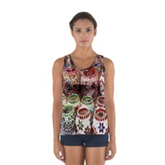 Colorful Oriental Candle Holders For Sale On Local Market Sport Tank Top