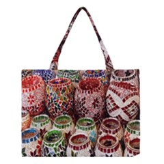 Colorful Oriental Candle Holders For Sale On Local Market Medium Tote Bag