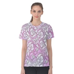 Floral Pattern Background Women s Cotton Tee