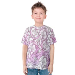 Floral Pattern Background Kids  Cotton Tee