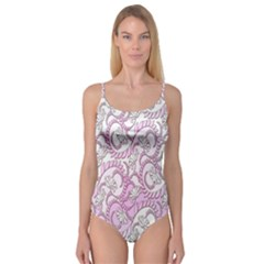 Floral Pattern Background Camisole Leotard