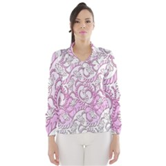 Floral Pattern Background Wind Breaker (women)