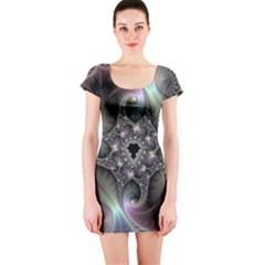 Precious Spiral Short Sleeve Bodycon Dress