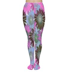 Floral Pattern Background Women s Tights