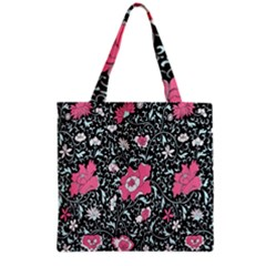 Oriental Style Floral Pattern Background Wallpaper Grocery Tote Bag