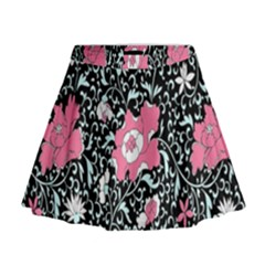 Oriental Style Floral Pattern Background Wallpaper Mini Flare Skirt