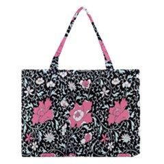 Oriental Style Floral Pattern Background Wallpaper Medium Tote Bag
