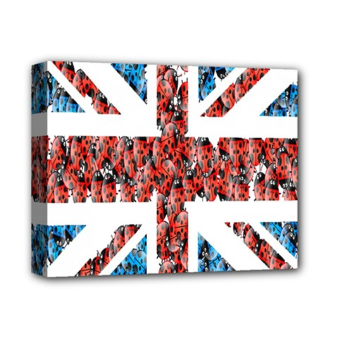 Fun And Unique Illustration Of The Uk Union Jack Flag Made Up Of Cartoon Ladybugs Deluxe Canvas 14  X 11