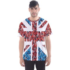 Fun And Unique Illustration Of The Uk Union Jack Flag Made Up Of Cartoon Ladybugs Men s Sports Mesh Tee