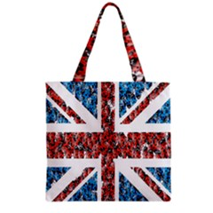 Fun And Unique Illustration Of The Uk Union Jack Flag Made Up Of Cartoon Ladybugs Grocery Tote Bag