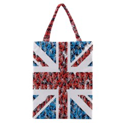 Fun And Unique Illustration Of The Uk Union Jack Flag Made Up Of Cartoon Ladybugs Classic Tote Bag