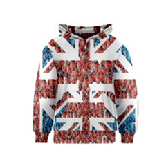 Fun And Unique Illustration Of The Uk Union Jack Flag Made Up Of Cartoon Ladybugs Kids  Pullover Hoodie