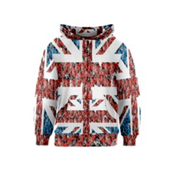 Fun And Unique Illustration Of The Uk Union Jack Flag Made Up Of Cartoon Ladybugs Kids  Zipper Hoodie