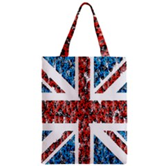Fun And Unique Illustration Of The Uk Union Jack Flag Made Up Of Cartoon Ladybugs Zipper Classic Tote Bag