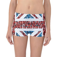 Fun And Unique Illustration Of The Uk Union Jack Flag Made Up Of Cartoon Ladybugs Boyleg Bikini Bottoms