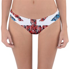 Fun And Unique Illustration Of The Uk Union Jack Flag Made Up Of Cartoon Ladybugs Reversible Hipster Bikini Bottoms