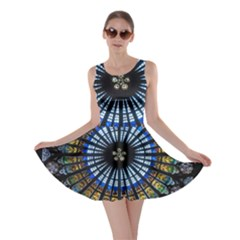 Stained Glass Rose Window In France s Strasbourg Cathedral Skater Dress