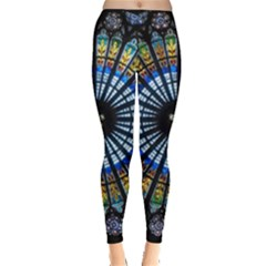 Stained Glass Rose Window In France s Strasbourg Cathedral Leggings