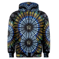 Stained Glass Rose Window In France s Strasbourg Cathedral Men s Zipper Hoodie