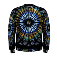 Stained Glass Rose Window In France s Strasbourg Cathedral Men s Sweatshirt