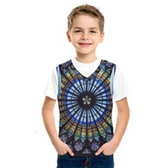Stained Glass Rose Window In France s Strasbourg Cathedral Kids  Sportswear