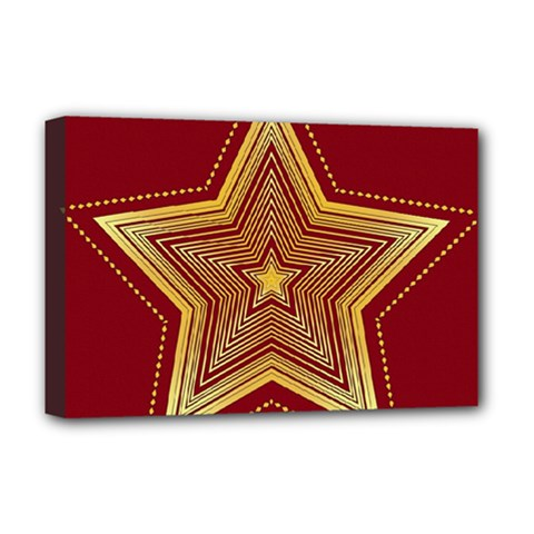 Christmas Star Seamless Pattern Deluxe Canvas 18  x 12