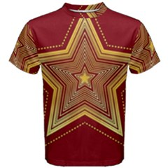 Christmas Star Seamless Pattern Men s Cotton Tee
