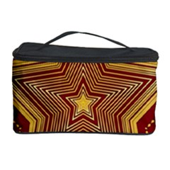 Christmas Star Seamless Pattern Cosmetic Storage Case