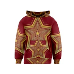 Christmas Star Seamless Pattern Kids  Pullover Hoodie
