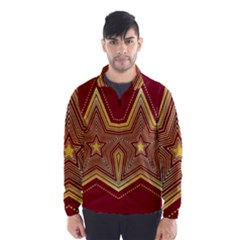 Christmas Star Seamless Pattern Wind Breaker (men)