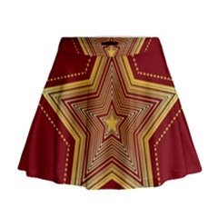 Christmas Star Seamless Pattern Mini Flare Skirt
