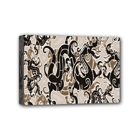Dragon Pattern Background Mini Canvas 6  X 4